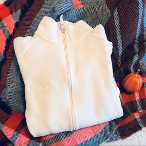 Cream White Columbia Women's Fleece Jacket Small